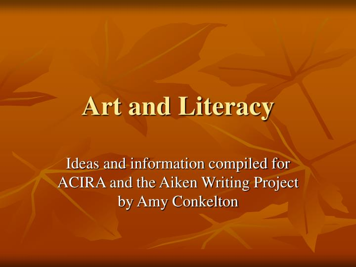 Art and literacy