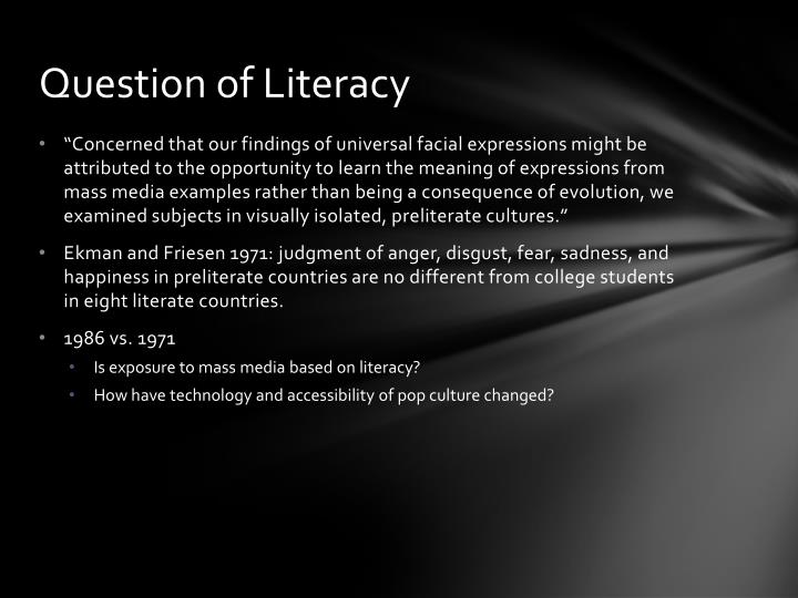 Question of Literacy