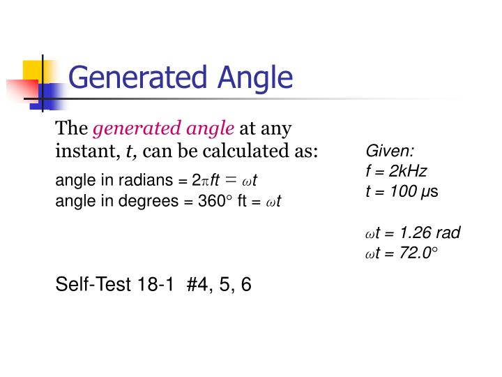 Generated Angle