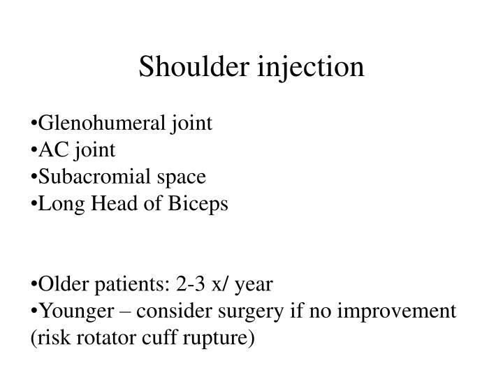 Shoulder injection