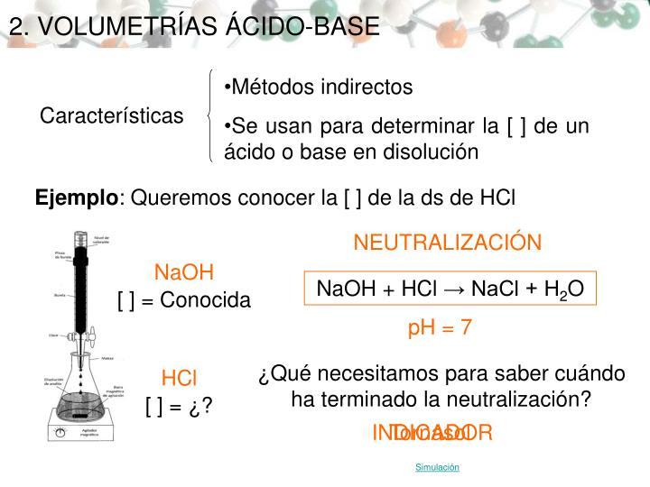 2. VOLUMETRÍAS ÁCIDO-BASE