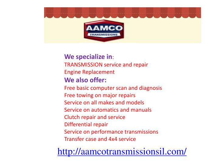 We specialize in
