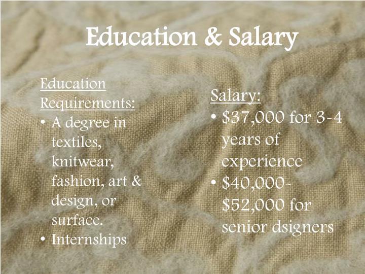 Education & Salary