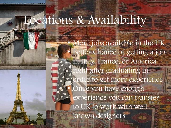 Locations & Availability