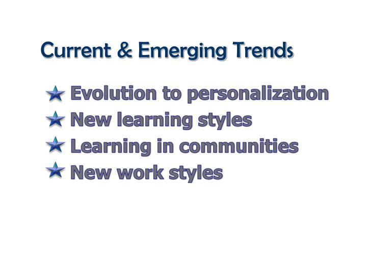 Current & Emerging Trends