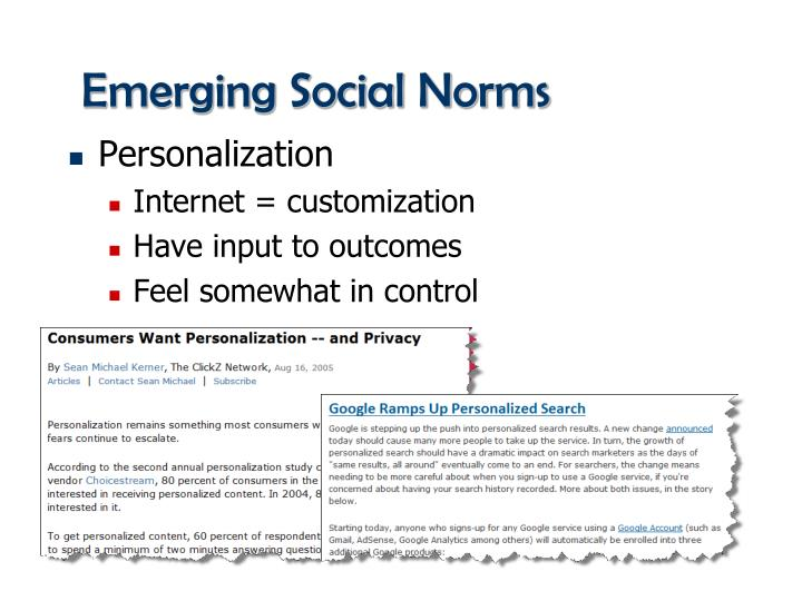 Emerging Social Norms