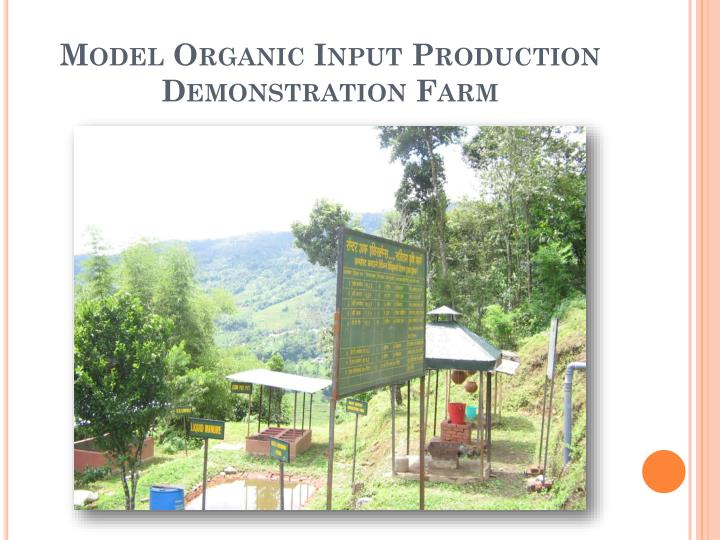 Model Organic Input Production Demonstration Farm