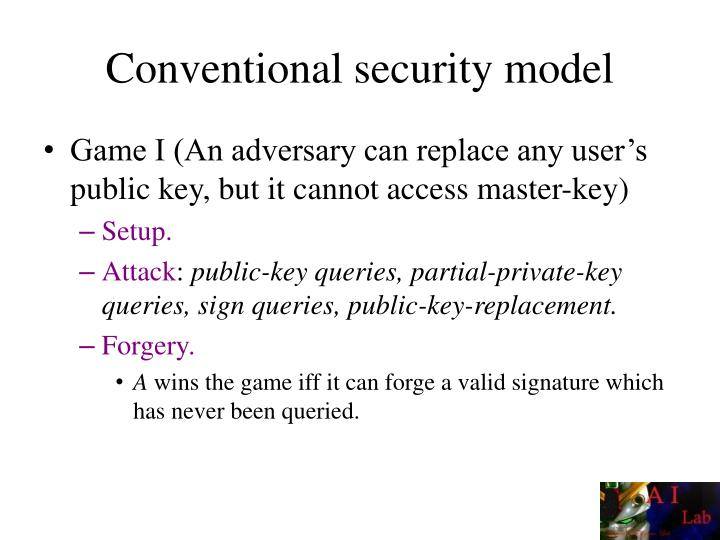 Conventional security model