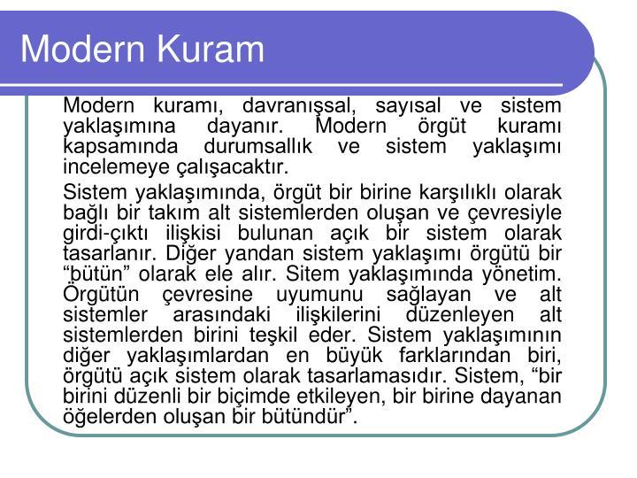 Modern Kuram