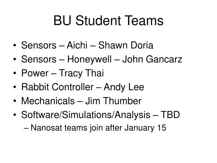 BU Student Teams
