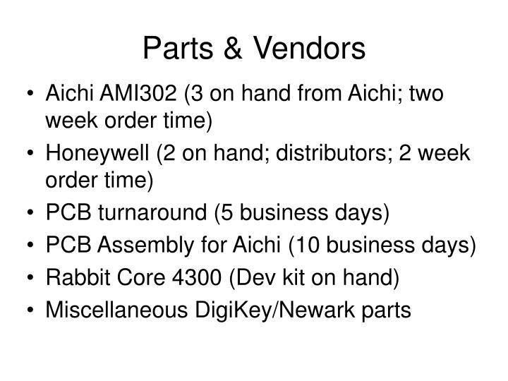 Parts & Vendors