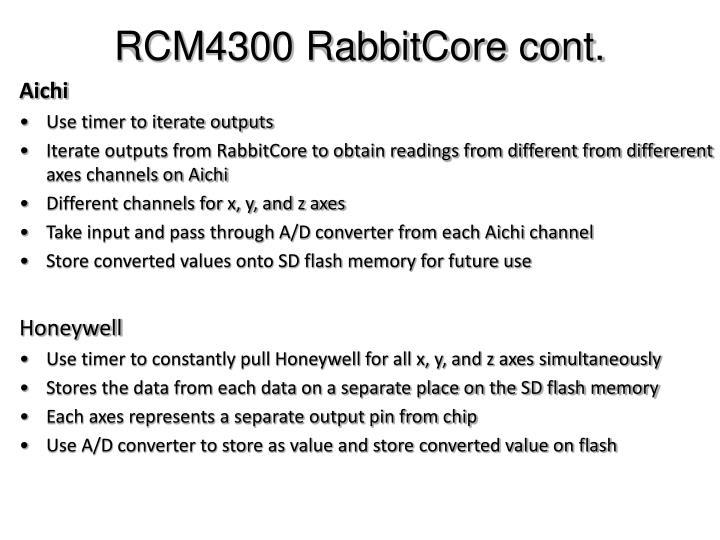 RCM4300 RabbitCore cont.