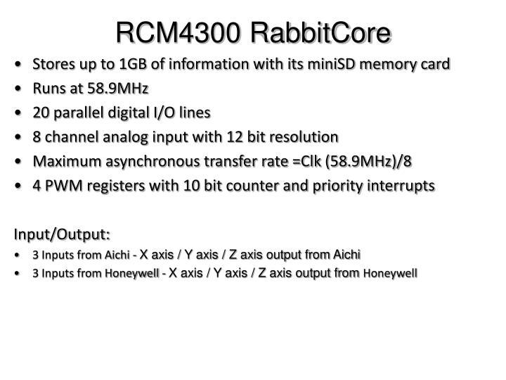 RCM4300 RabbitCore