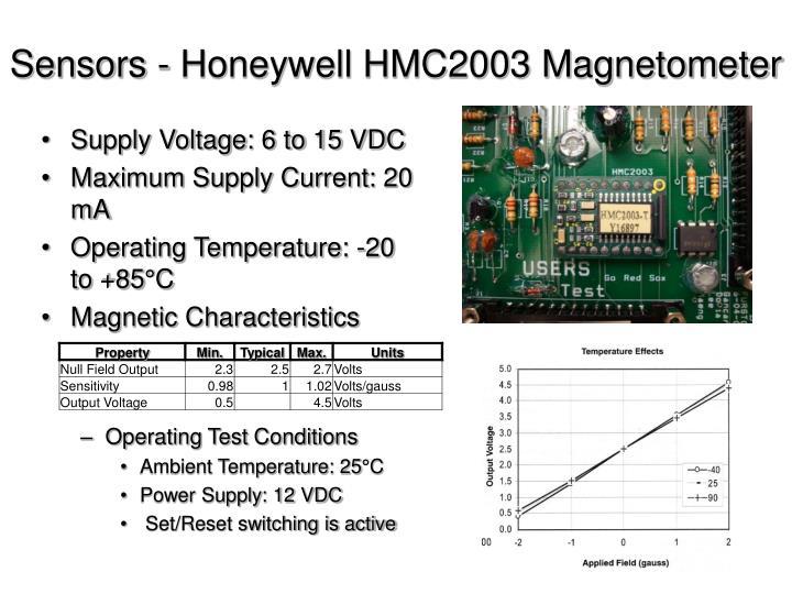 Sensors - Honeywell HMC2003 Magnetometer