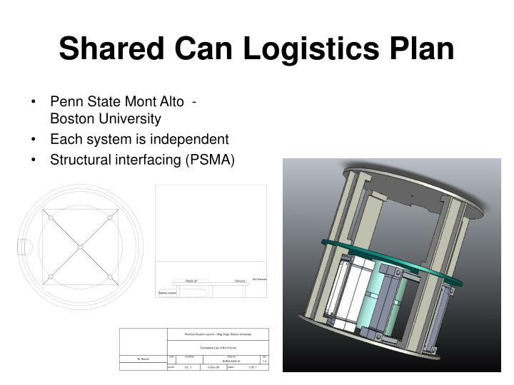 Shared Can Logistics Plan