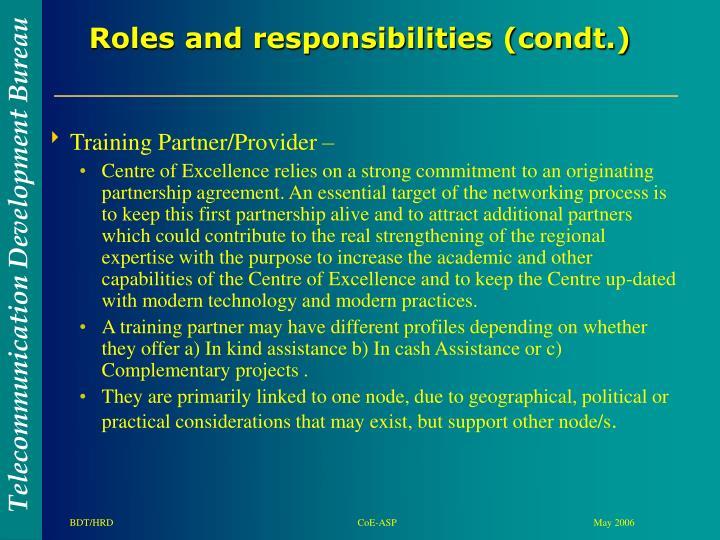 Training Partner/Provider –