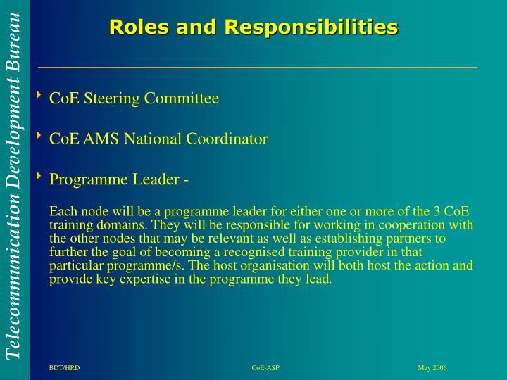 CoE Steering Committee