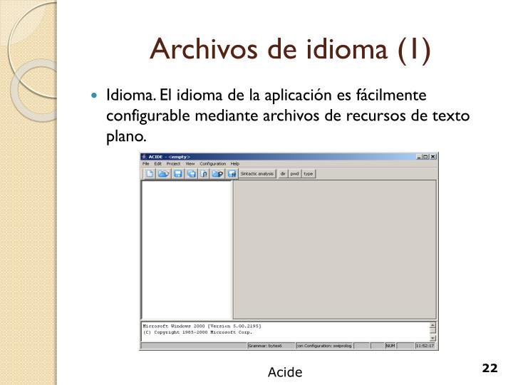 Archivos de idioma (1)
