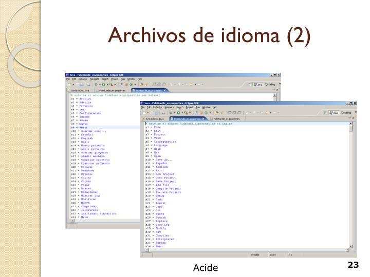 Archivos de idioma (2)