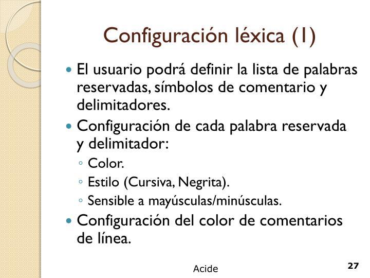 Configuración léxica (1)