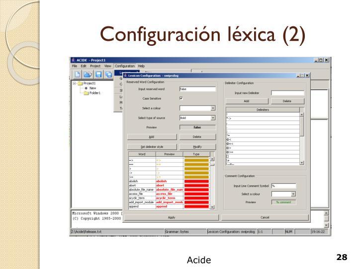 Configuración léxica (2)