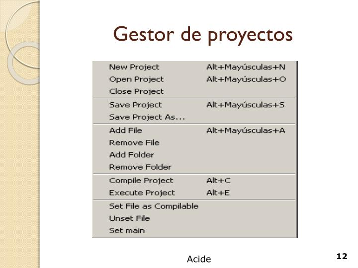 Gestor de proyectos