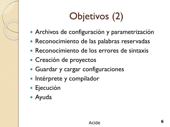 Objetivos (2)