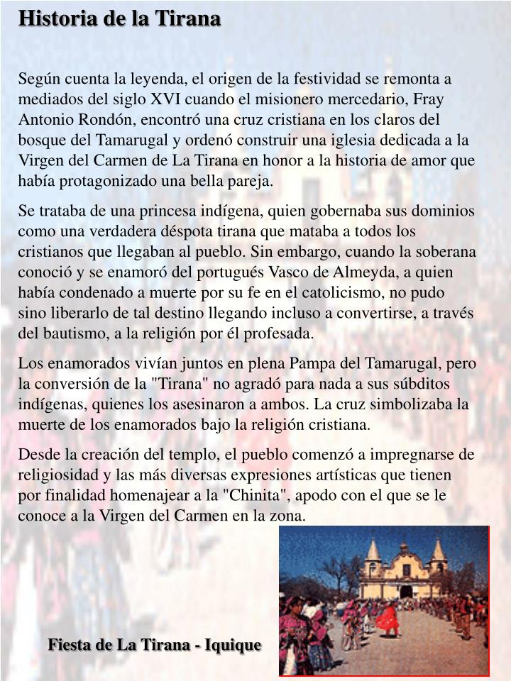Historia de la Tirana