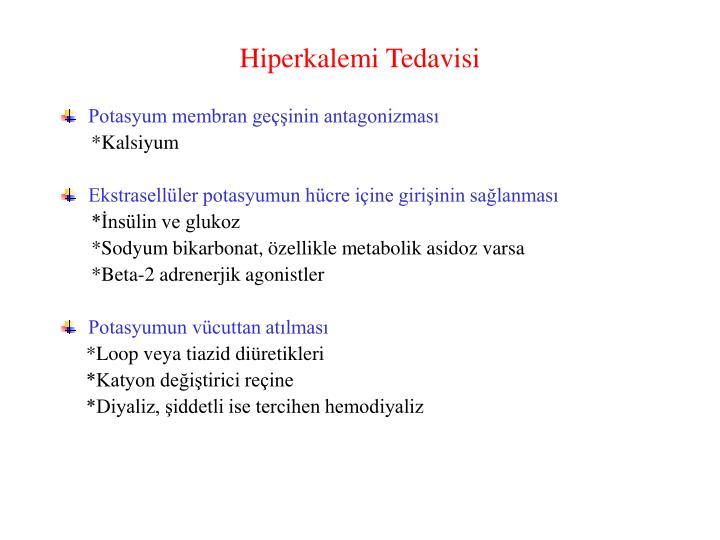 Hiperkalemi Tedavisi