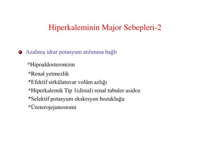 Hiperkaleminin Major Sebepleri-2