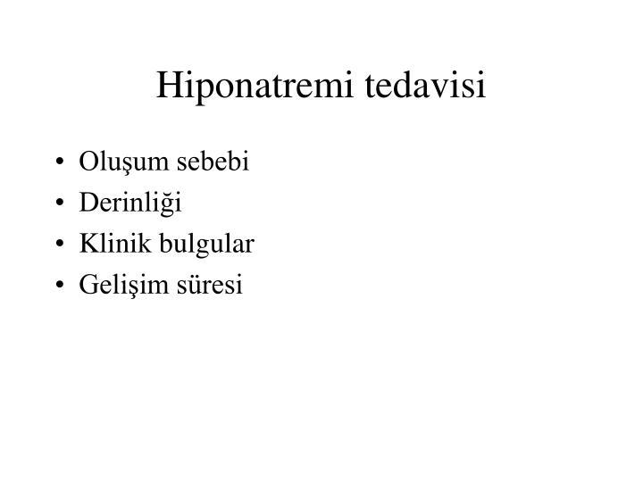 Hiponatremi tedavisi