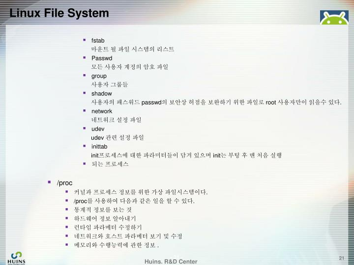 Linux File System