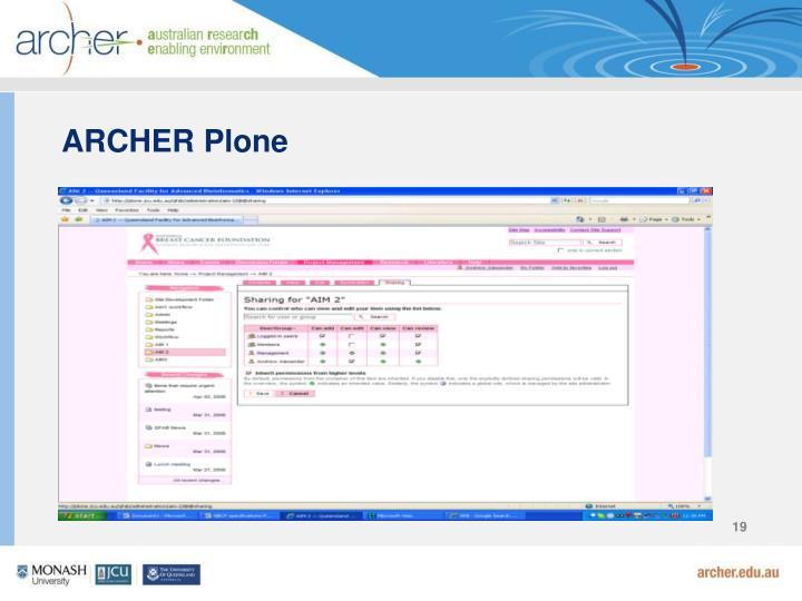 ARCHER Plone