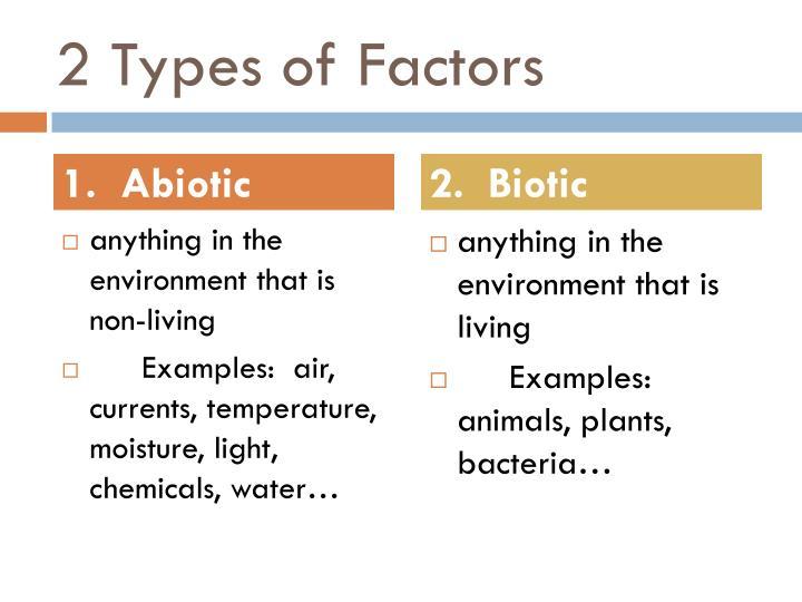 2 Types of Factors