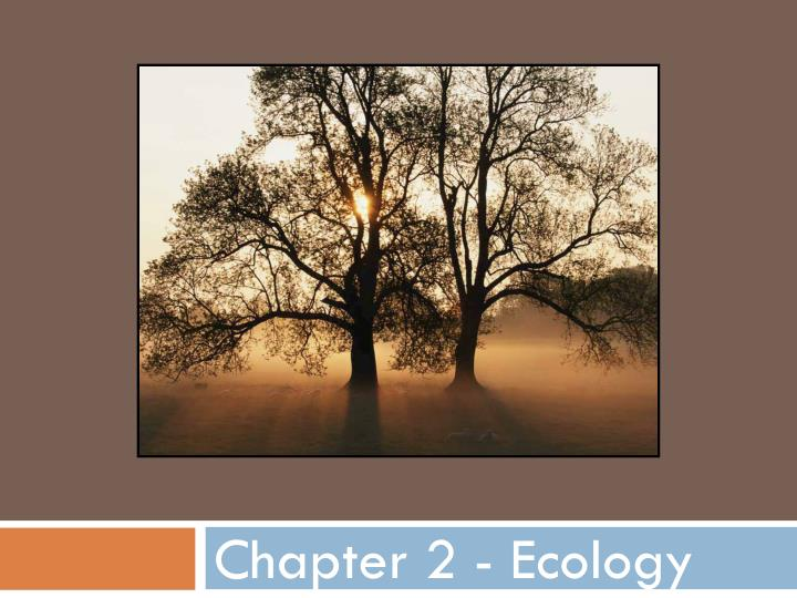 Chapter 2 ecology
