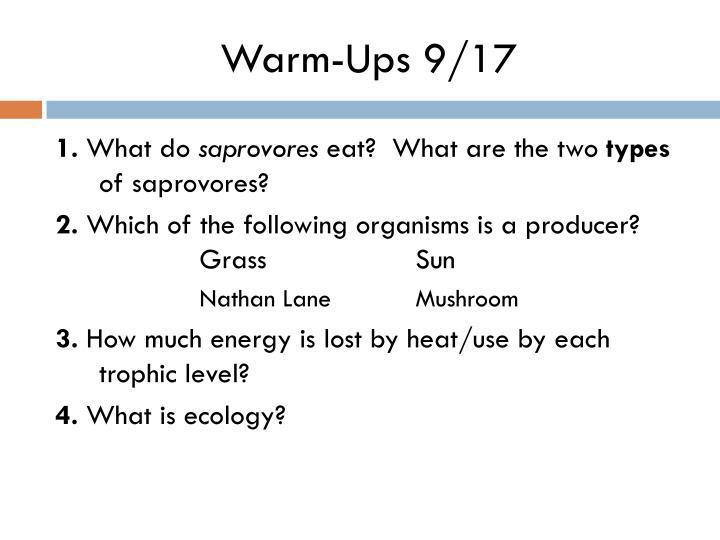 Warm-Ups 9/17
