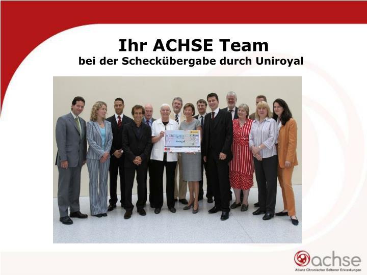 Ihr ACHSE Team