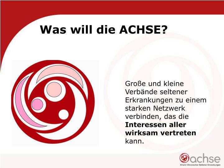 Was will die ACHSE?