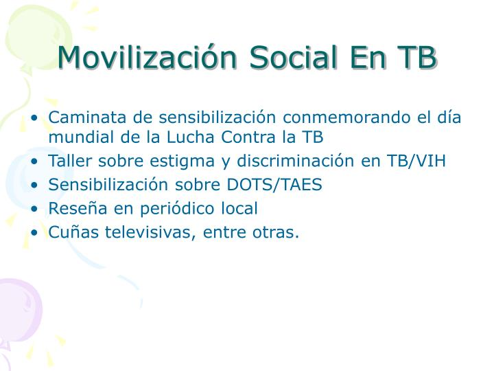 Movilización Social En TB