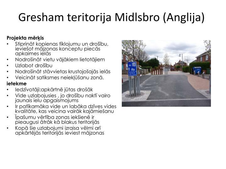 Gresham teritorija Midlsbro (Anglija)