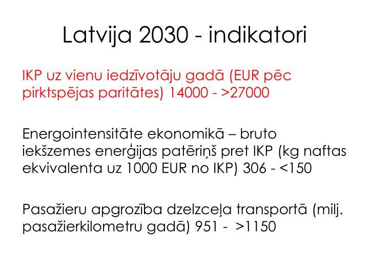 Latvija 2030 - indikatori