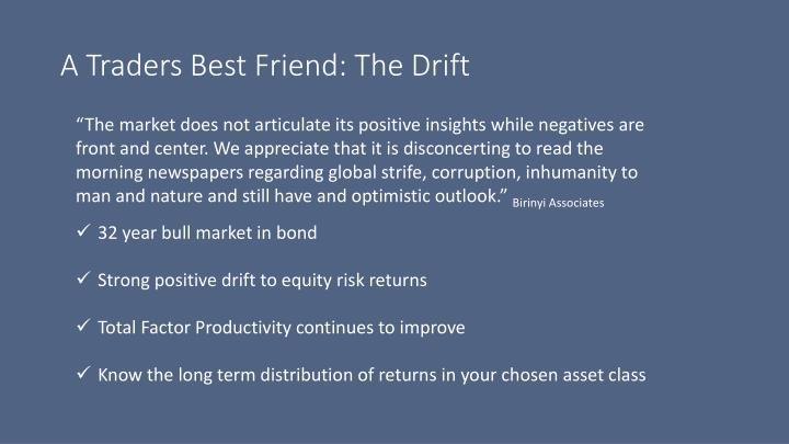 A Traders Best Friend: The Drift