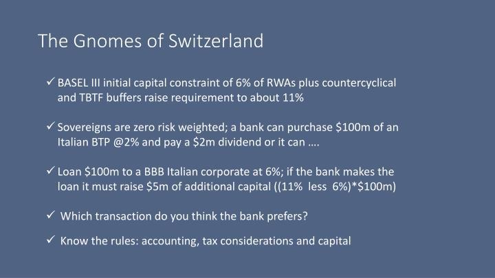 The Gnomes of Switzerland