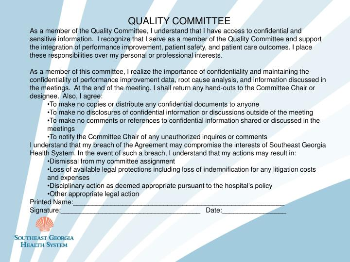 QUALITY COMMITTEE