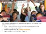 automatic payments plan
