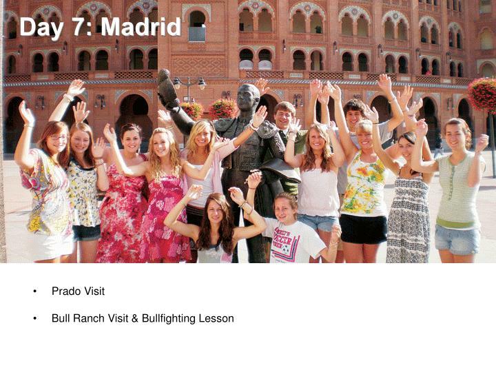 Day 7: Madrid