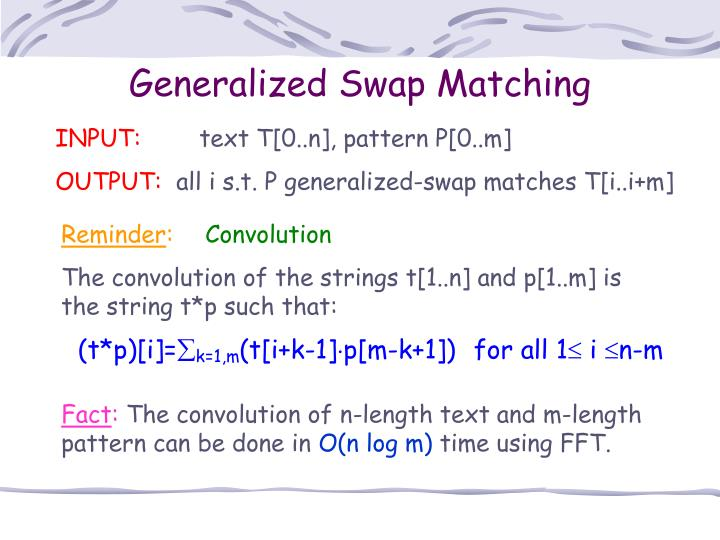 Generalized Swap Matching