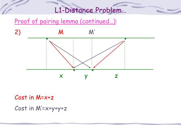 L1-Distance Problem…