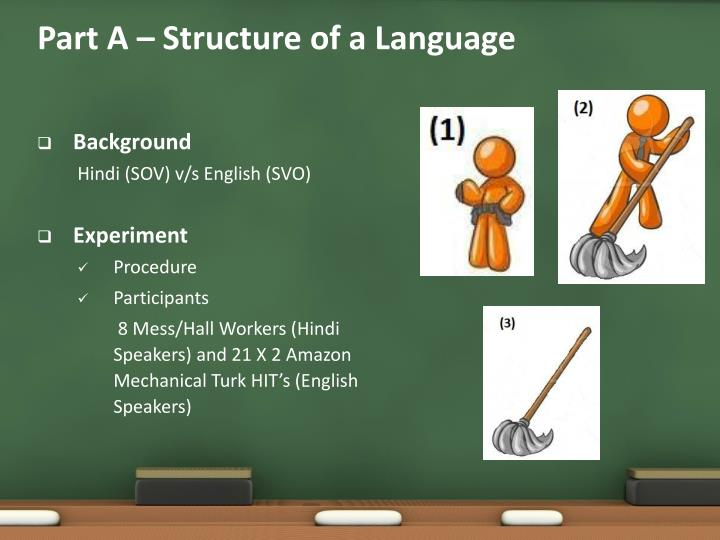 Part A – Structure of a Language