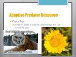 adaptive predator response2